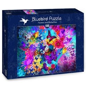 "Bluebird Puzzle (70219) - ""Flowers and Butterflies"" - 1000 piezas"
