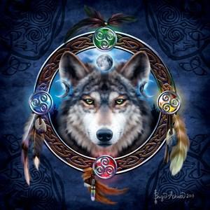 """SunsOut (20106) - Brigid Ashwood: """"Celtic Wolf Guide"""" - 1000 piezas"""