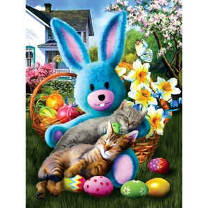 "SunsOut (28844) - Tom Wood: ""Easter Buddies"" - 500 piezas"