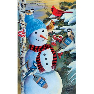 "SunsOut (37657) - Jeff Renner: ""Snowman's Party"" - 550 piezas"