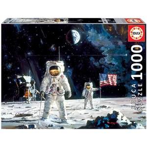 "Educa (18459) - Robert McCall: ""First Men on the Moon"" - 1000 piezas"