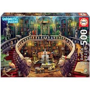 "Educa (18479) - ""Enigmatic, Antique Library"" - 500 piezas"
