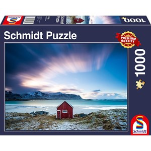 "Schmidt Spiele (58395) - ""Hut on the Atlantic Coast"" - 1000 piezas"