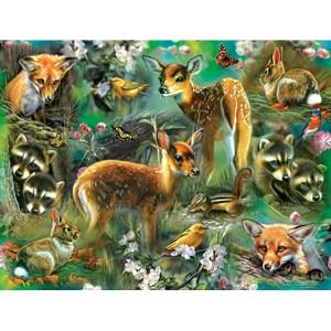 "SunsOut (68022) - Rebecca Latham: ""Forest Critters"" - 500 piezas"