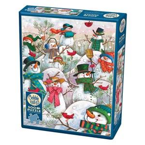 "Cobble Hill (85081) - Janet Stever: ""Hill of a Lot of Snowmen"" - 500 piezas"