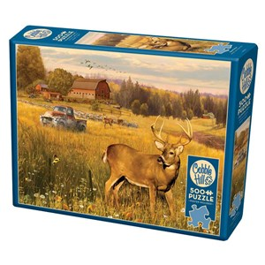 "Cobble Hill (85078) - Greg Giordano: ""Deer Field"" - 500 piezas"