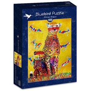 """Bluebird Puzzle (70301) - Graeme Stevenson: """"African Watch"""" - 1000 piezas"""