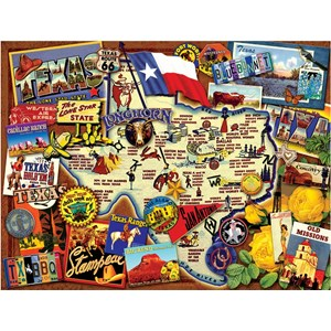 "SunsOut (70024) - Kate Ward Thacker: ""Texas, The Lone Star State"" - 500 piezas"