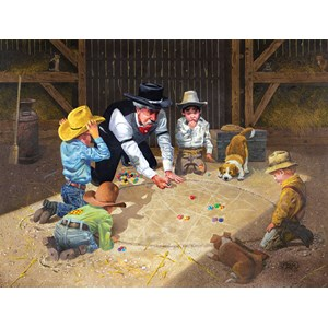 """SunsOut (36013) - Don Crook: """"Only Game in Town"""" - 500 piezas"""