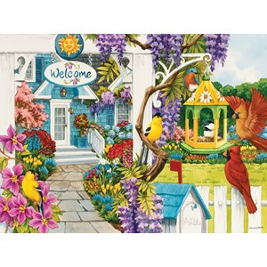 "SunsOut (62939) - Nancy Wernersbach: ""Wisteria Cottage"" - 1000 piezas"
