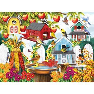 "SunsOut (63009) - Nancy Wernersbach: ""Autumn Backyard"" - 1000 piezas"