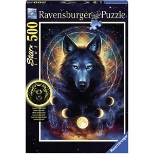 "Ravensburger (13970) - ""Glowing Wolf"" - 500 piezas"