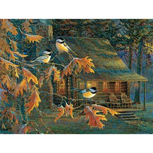 "SunsOut (29034) - Sam Timm: ""Cabin Chickadees"" - 500 piezas"