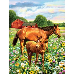 "SunsOut (37174) - Greg Giordano: ""Mare and Foal"" - 500 piezas"