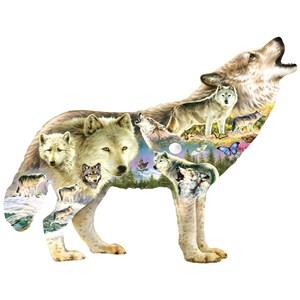 """SunsOut (96038) - Greg Giordano: """"Meadow Wolf"""" - 750 piezas"""