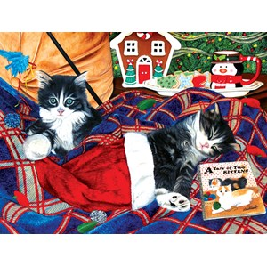 """SunsOut (67251) - Julie Bauknecht: """"A Tale of Two Kittens"""" - 500 piezas"""