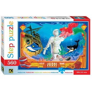 "Step Puzzle (78100) - ""The Little Mermaid"" - 560 piezas"
