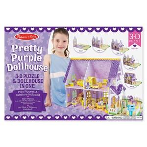 "Melissa and Doug (9461) - ""Pretty Purple Dollhouse"" - 100 piezas"