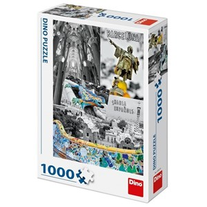 "Dino (53267) - ""Barcelona, Spain"" - 1000 piezas"