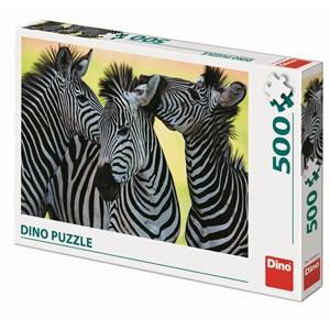 "Dino (50226) - ""3 Zebras"" - 500 piezas"