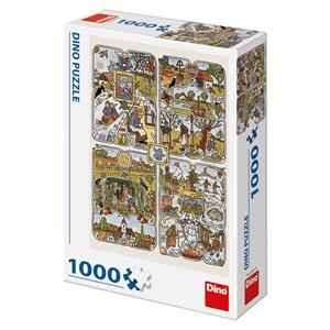 """Dino (53251) - Josef Lada: """"Year's Seasons"""" - 1000 piezas"""