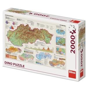 """Dino (56120) - """"Map of Slovakia"""" - 2000 piezas"""