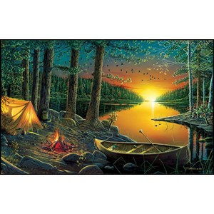 "SunsOut (51844) - Ervin Molnar: ""Evening by the Lake"" - 550 piezas"