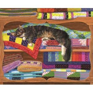 "SunsOut (31649) - Linda Elliott: ""Quilt Cupboard"" - 1000 piezas"