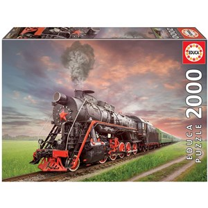 "Educa (18503) - ""Stream Locomotive"" - 2000 piezas"