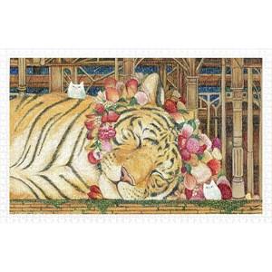 "Pintoo (h2146) - Cotton Lion: ""Goodnight Tiger"" - 1000 piezas"