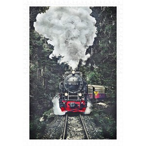 """Pintoo (h2159) - """"The Steam Train, Switzerland"""" - 600 piezas"""