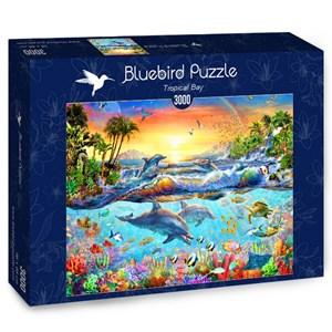 """Bluebird Puzzle (70194) - Adrian Chesterman: """"Tropical Bay"""" - 3000 piezas"""