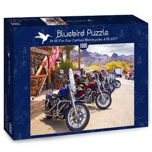 "Bluebird Puzzle (70067) - ""Rt 66 Fun Run Oatman Motorcycles 4-16 8377"" - 1000 piezas"