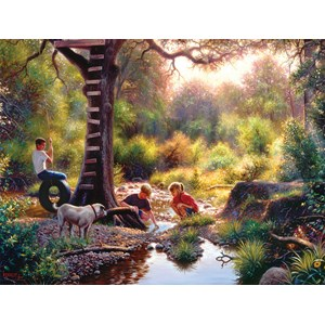 "SunsOut (53074) - Mark Keathley: ""The Clubhouse"" - 500 piezas"