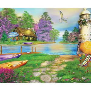"SunsOut (66510) - Caplyn Dor: ""Seagull Bay"" - 1000 piezas"