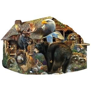 "SunsOut (97186) - Rebecca Latham: ""Wildlife Cabin"" - 1000 piezas"