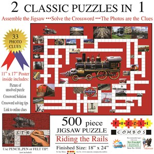 "SunsOut (10162) - Irv Brechner: ""Puzzle Combo, Riding the Rails"" - 500 piezas"
