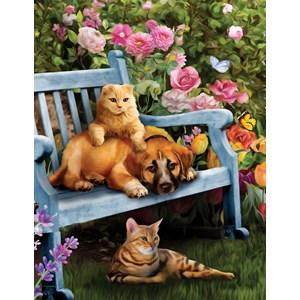 "SunsOut (28894) - Celebrate Life Gallery: ""Garden Hangout"" - 500 piezas"
