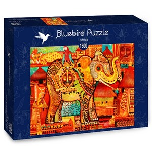 "Bluebird Puzzle (70413) - Oxana Zaika: ""Africa"" - 1500 piezas"