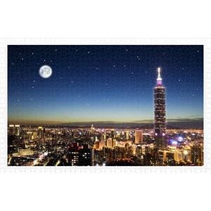 """Pintoo (h1719) - """"Taipei Skyline"""" - 1000 piezas"""