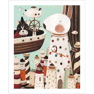 """Pintoo (h1704) - Nan Jun: """"Lighthouse"""" - 500 piezas"""