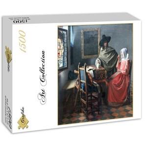 "Grafika (00148) - Johannes Vermeer: ""The Glass of Wine, 1658-1660"" - 1500 piezas"