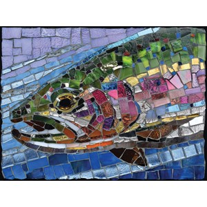 """SunsOut (70711) - Cynthie Fisher: """"Stained Glass Rainbow Trout"""" - 1000 piezas"""