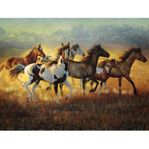 """SunsOut (70936) - Cynthie Fisher: """"Running with the Wind"""" - 500 piezas"""