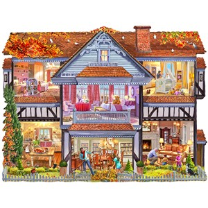 "SunsOut (96058) - Steve Crisp: ""Autumn Country House"" - 1000 piezas"