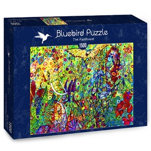 "Bluebird Puzzle (70409) - Sally Rich: ""The Rainforest"" - 1500 piezas"