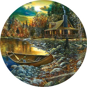 "SunsOut (74106) - Jim Hansel: ""Fall Cabin"" - 500 piezas"