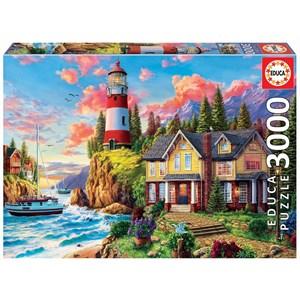"""Educa (18507) - """"Lighthouse Near The Ocean"""" - 3000 piezas"""