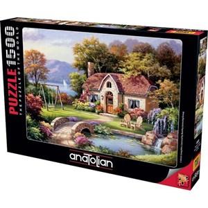 "Anatolian (4559) - Sung Kim: ""Stone Bridge Cottage"" - 1500 piezas"