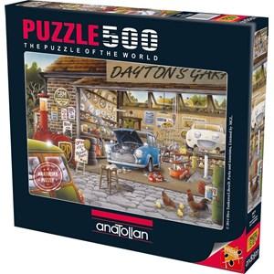 "Anatolian (3571) - Hiro Tanikawa: ""Dayton's Garage"" - 500 piezas"